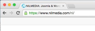 NILMEDIA gebruikt een SSL certificaat voor https -beveiliging